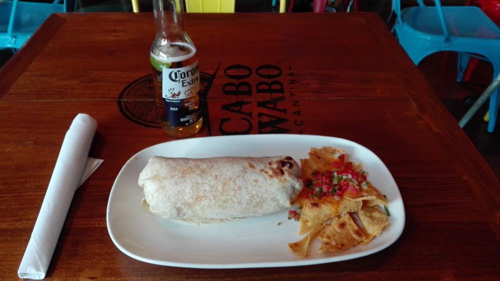 Burrito v Las Vegas na Sripu.